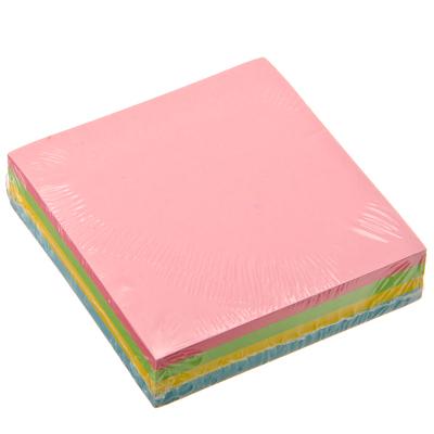 526-420 Блок для заметок с клеевым краем, 76x76мм, 100 листов, 4 цвета