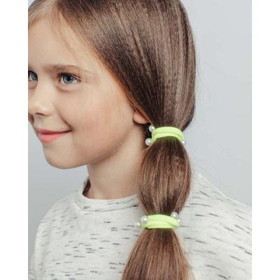 316-145 Набор резинок для волос 4шт., нейлон, d4 см, 6 цветов