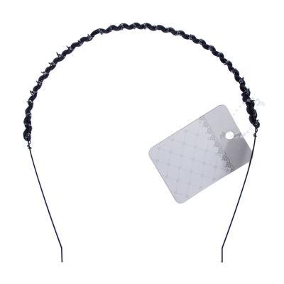 323-155 Ободок для волос, металл, 0,5 см, черный