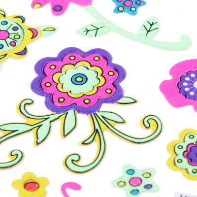 503-444 Наклейка флуоресцентная, ПВХ, 28х11см, 7-9 дизайнов, арт.85-04