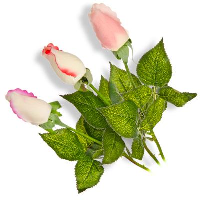 """501-388 Цветок искусственный """"В виде Розы"""", 45см, полиэстер, 3 цвета"""