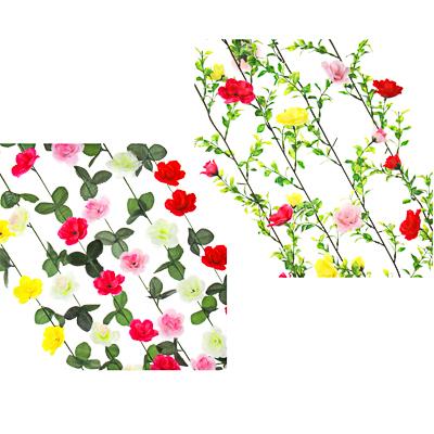 """501-397 Растение искусственное """"Лиана с розами"""", 2-2,3м, 11-13 розочек, 6 цветов"""