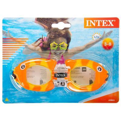 """109-061 Очки для плавания, возраст от 3 до 8 лет, 3 цвета, INTEX """"Fun"""", 55603"""