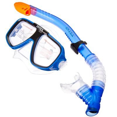 109-062 INTEX Набор для подводного плавания (маска,трубка) Reef Rider, от 8 лет, 55948
