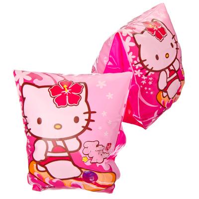 109-069 INTEX Нарукавники для плавания 23x15см, Hello Kitty, от 3 до 6 лет, 56656