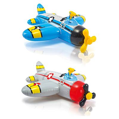 109-075 Игрушка для катания верхом с водным пистолетом, 132х130 см, возраст от 3 лет, INTEX Самолетик, 57537