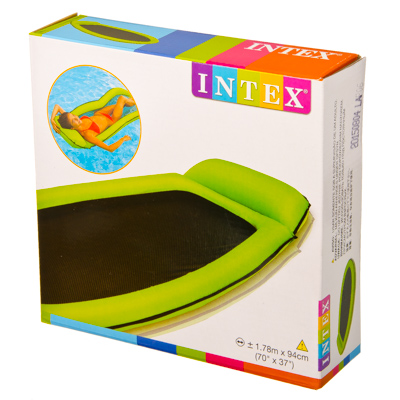 109-081 Матрас-сетка с подушкой, 178х94 см, INTEX, 58836