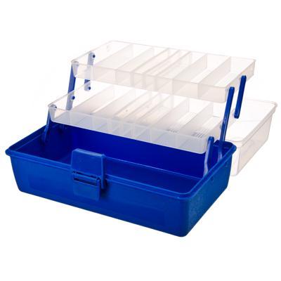 147-010 AZOR Ящик-органайзер для приманок, 3 уровня 29х18х14см, пластик