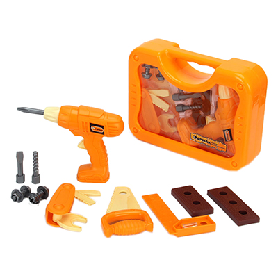 Набор инструментов детский 11пр, 26,5х19,5х7,5см, пластик ABC, 3+