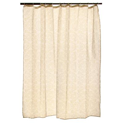 """461-417 VETTA Шторка для ванной, ткань полиэстер с утяжелит, 180x180см, """"Вензель охра"""""""