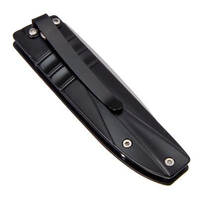 118-049 ЧИНГИСХАН Нож туристический складной с зажимом 16,5(7)х2,6см ручка металл, D307
