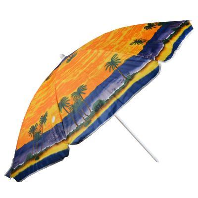 121-059 Зонт пляжный, 210D, полиэстер, d160см, h180см, 19/22мм стойка, в чехле, 3 диз.