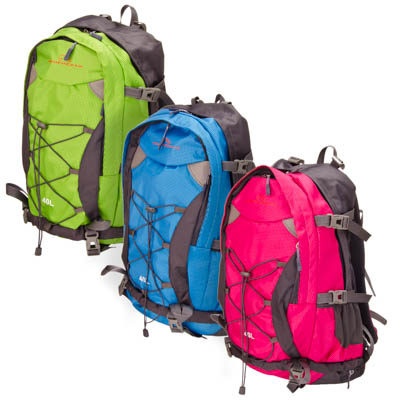 118-067 ЧИНГИСХАН Рюкзак туристический 40л, полиэстер 420D, 500гр, 3 цвета, арт 5801