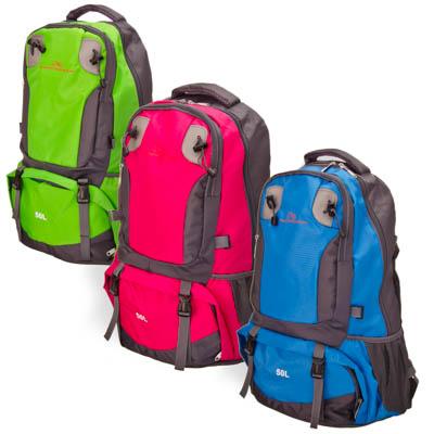 118-069 ЧИНГИСХАН Рюкзак туристический 50л, нейлон 420D, 500гр, 3 цвета, арт 5813