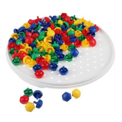 272-178 РЫЖИЙ КОТ Мозаика пластиковая, 110 шестигран.фишек 13мм, пластик, d18,5см, М-5656