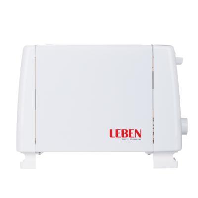 475-151 LEBEN Тостер 750Вт, 2 отдел, функция выжигания фигурки на хлебе, 6 степеней поджарки, 220В, арт.RF9