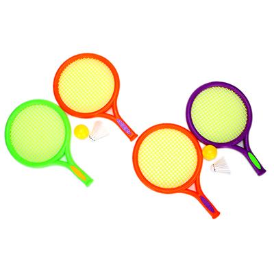 136-009 Набор для бадминтона детский в сетке (ракетка 2шт, мяч, волан) YG3630D