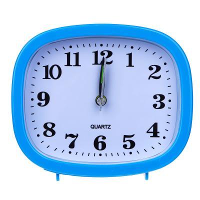 529-089 Будильник электронный прямоугольный, пластик, 12х11х4 см, 1хАА, 3 цвета