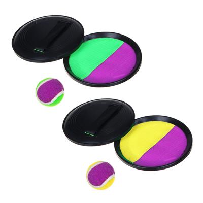 134-027 Набор поймай мяч, детский, тарелки-липучки 2 шт, мяч, пластик
