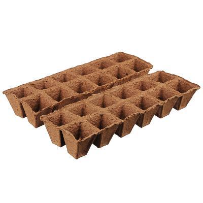 179-060 Набор для выращивания рассады: торфяные горшочки 24 шт, 5x5 см, лоток, пластик, 36x23 см