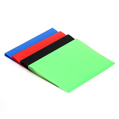 526-451 Папка с файлами, А-4, 10 листов (400 микрон-30микрон) ПВХ, 4 цвета