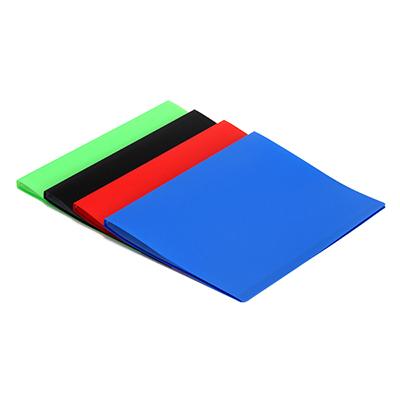 526-452 Папка с файлами, А-4, 20 листов (400 микрон-30микрон) ПВХ, 4 цвета
