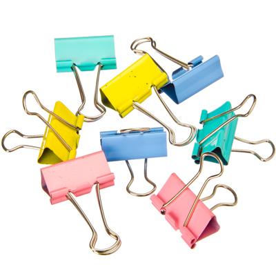 526-458 Набор зажимов для бумаг металлических, 32мм, цветные, 24шт в пластиковой упаковке