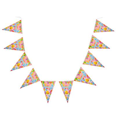 """521-071 Капитан Весельчак Растяжка """"С Днем Рождения"""" бумага, 10 листов, 230х29см, арт.2200"""