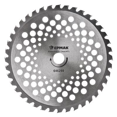 646-298 ЕРМАК Нож металл. (255x25.4x1,3х40T) c твердосплав. зубьями для бензотриммеров