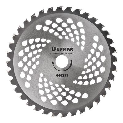 646-299 ЕРМАК Нож металл. (230x25.4x1,3х36T) c твердосплав. зубьями для бензотриммеров