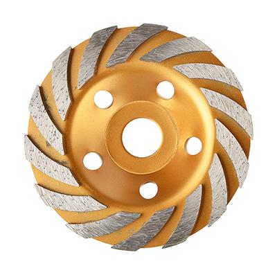 664-150 ЕРМАК Чашка алмазная зачистная турбо-сегмент 125мм