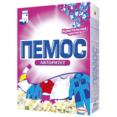 958-031 Стиральный порошок ПЕМОС Авторитет Цветок для цветного/белого, к/у, 350г, 1856846