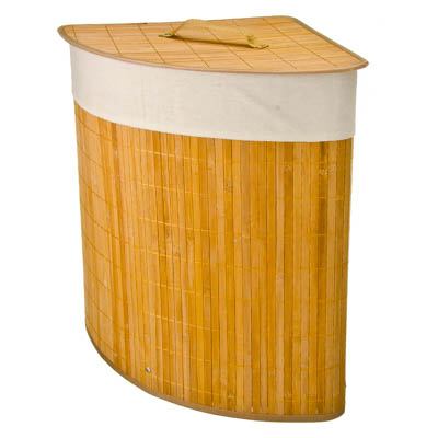 463-740 VETTA Корзина для белья складная угловая бамбук 35x35х50см