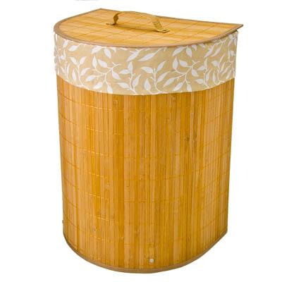 463-741 VETTA Корзина для белья складная пристенная бамбук 38x29х50см