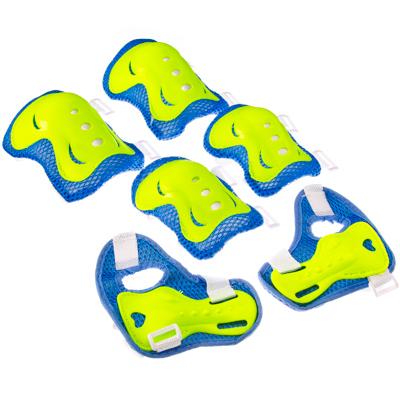 129-119 Набор защиты (колени, локти, запястья) зеленый/голубой, размер M, арт.LF-0240