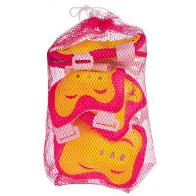 129-123 Набор защиты (колени, локти, запястья) желтый/розовый, размер S, арт.LF-0240