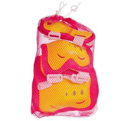 129-124 Набор защиты (колени, локти, запястья) желтый/розовый, размер M, арт.LF-0240