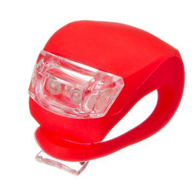 195-016 Мини-фонарь велосипедный, 3 режима, 2 диода, пит.батар. есть в комплекте: 2хСR2035, 2 цвета, SILAPRO