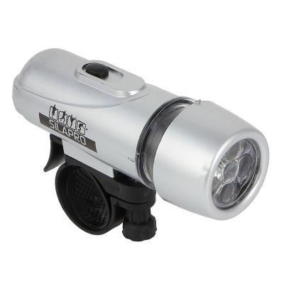195-022 Набор фонарей, 2шт, задний: 7,5х4х3,5 см, 3LED, 2хААА + передний: 10х3,5х3,5 см, 5LED, 4хААА, SILAPR