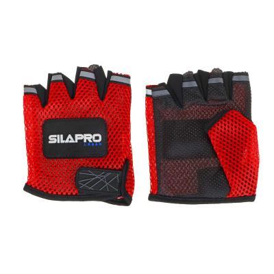 195-029 SILAPRO Перчатки для велосипеда и фитнеса. полиэстер, универсальный р-р, 3 цвета