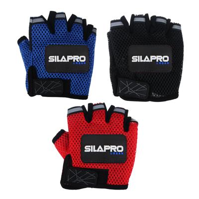 195-029 Перчатки для велосипеда и фитнеса, полиэстер, универсальный размер, 3 цвета, SILAPRO