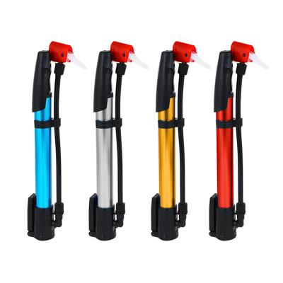195-030 Насос велосипедный, шредер, преста, 32,5х2,7 см, пластик, металл, 4 цвета, SILAPRO