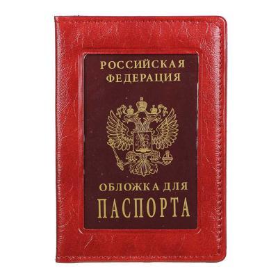 334-049 PAVO Обложка для паспорта с окном, ПВХ, 10х14см, 2-3 цвета