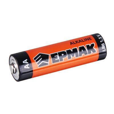 "634-002 ЕРМАК Батарейки 2шт ""Alkaline"" щелочная, тип AA (LR6), BL"