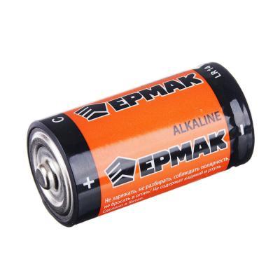 "634-004 ЕРМАК Батарейки 2шт ""Alkaline"" щелочная, тип C (LR14), BL"