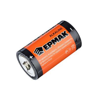 """634-005 ЕРМАК Батарейки 2шт """"Alkaline"""" щелочная, тип D (LR20), BL"""