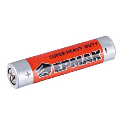 "634-008 ЕРМАК Батарейки 4шт ""Super heavy duty"" солевая, тип AA (R6), плёнка"