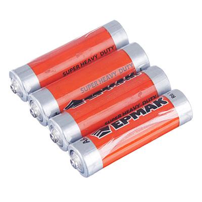 "634-008 ЕРМАК Батарейки 4шт ""Super heavy duty"" солевая, тип AA (R6), 1,5В"