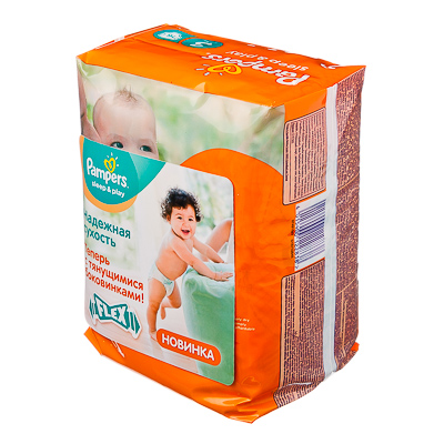 926-007 Подгузники детские PAMPERS Sleep & Play Midi 3 (4-9 кг) 16 шт, арт.81560478