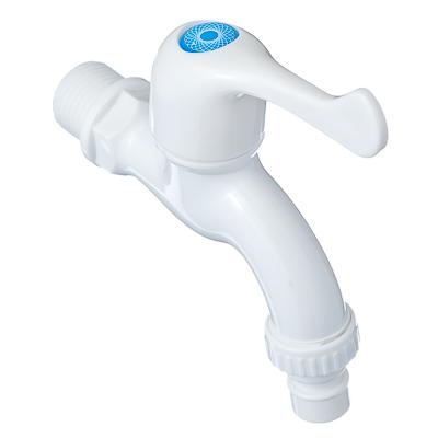 """554-096 Кран водоразборный белый, PA8822W, дл.ручка, со штуцером 1/2"""", ABS пластик"""